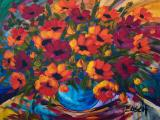 Cornelius BOSCH - Still Life with Spring Flowers - Acrylic on canvas 100 x 115cm SOLD for R28 000