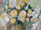 Frank SPEARS - Yellow Roses - Oil on board 55 x 41cm SOLD at R20 000