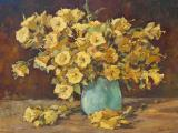 Johan OLDERT - Still Life with Vase - Oil on board 59x75cm SOLD for R10 000